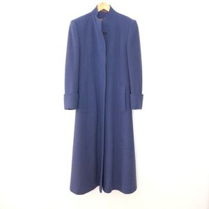 Aquascutum Size 6 Pure New Wool Long Coat